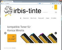 irbis-tinte.de Webshop mit Template in XTC-modified 1.06