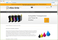 Irbis Tinte Webshop Webshop in modified 2.0