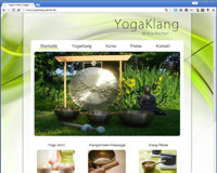 yogaklang-pecher.de Webseite in Wordpress